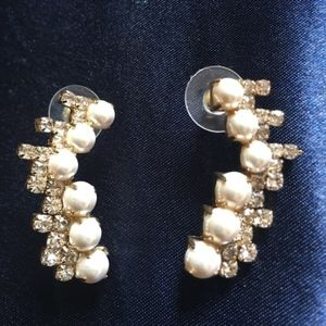 EXPRESS Pearls & Shine Stones Earrings